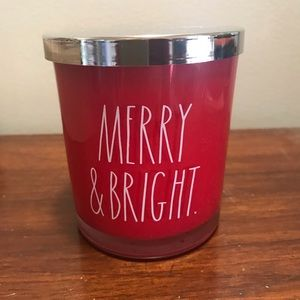Rae Dunn Red Merry & Bright Candle 🎄